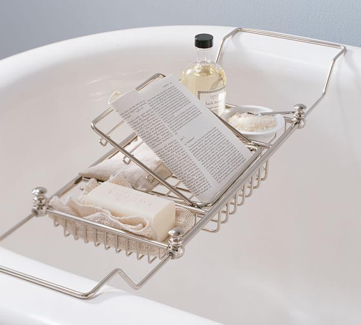 Pottery Barn bath tub tray www.chathamhillonthelake.com