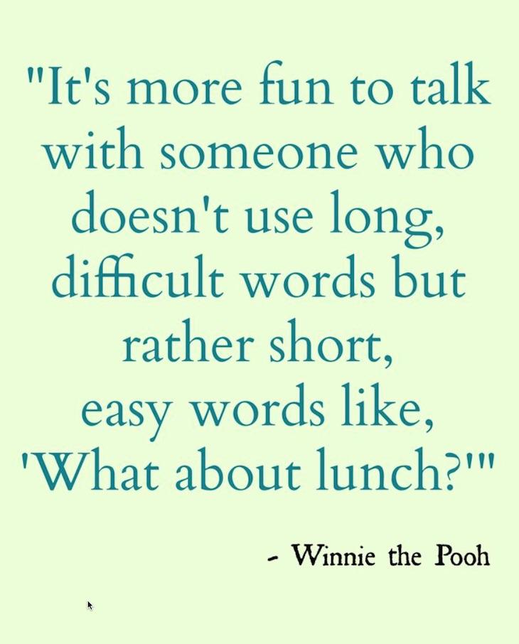 pooh wisdom www.chathamhillonthelake.com
