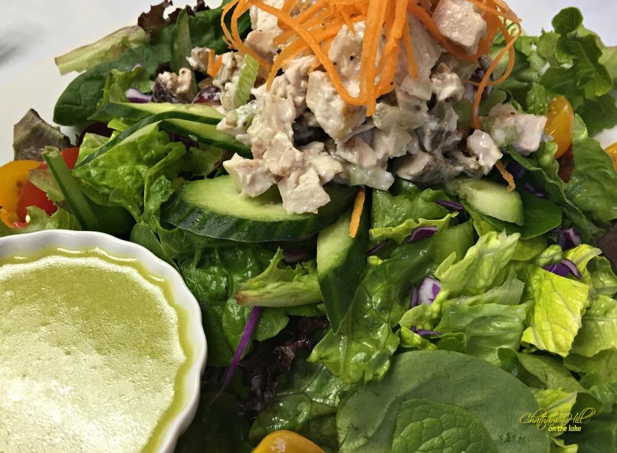 Imogene's Chicken Salad on Lettuce www.chathamhillonthelake.com