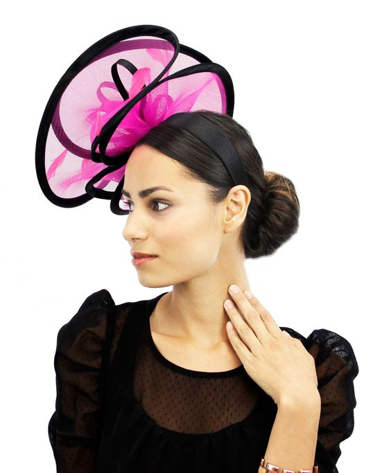 Pink and Black Fascinator www.chathamhillonthelake.com