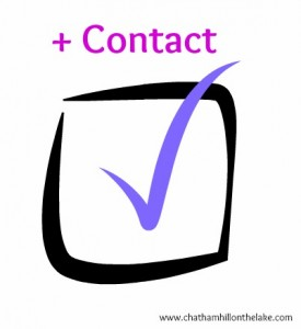 contact checklist www.chathamhillonthelake.com