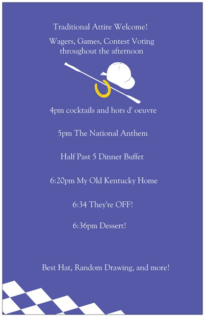 Debbie's Derby Invitations 2 www.chathamhillonthelake.com