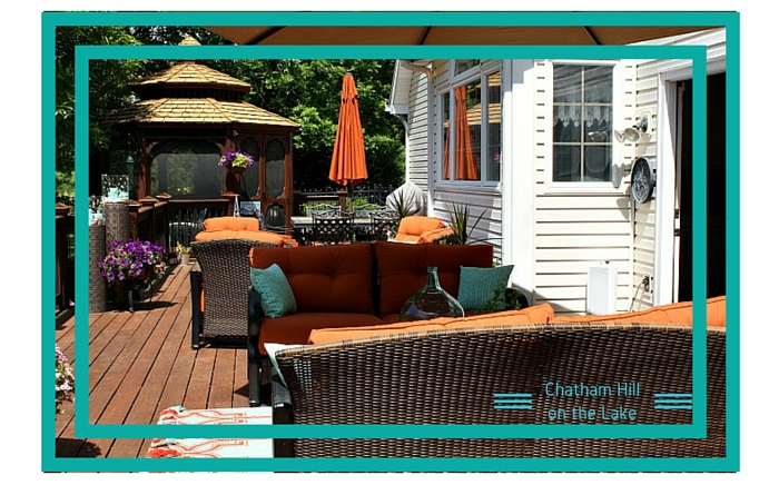 5 Outdoor spaces for entertaining www.chathamhillonthelake.com