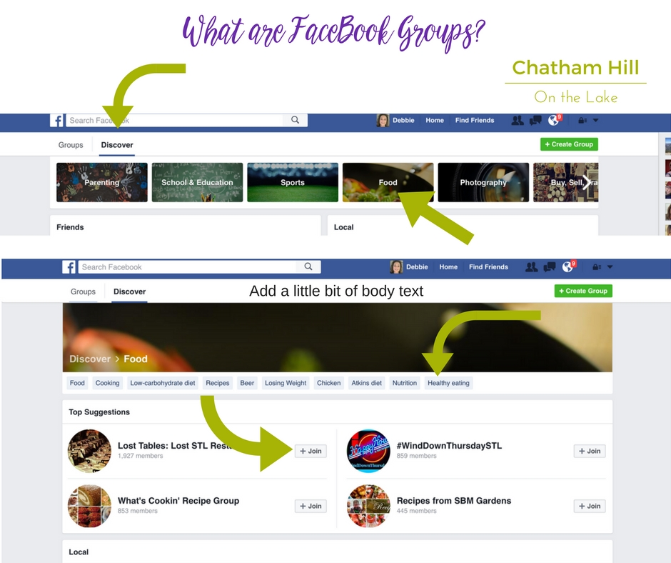 What are FaceBook Groups and How Do I Join Them? www.chathamhillonthelake.com