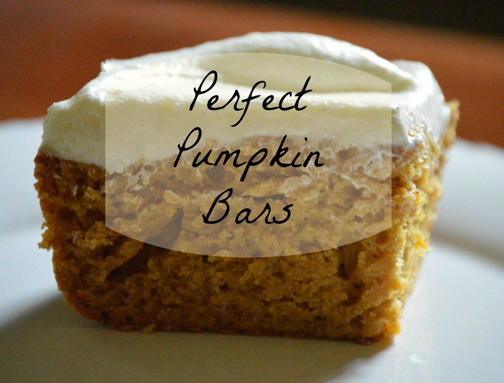 Perfect Pumpkin Bars Recipe www.chathamhillonthelake.com