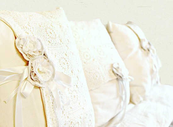 Romantic Farmhouse Cushions www.chathamhillonthelake.com