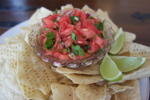Watermelon Salsa by Pam List www.chathamhillonthelake.com