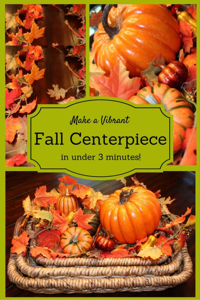 Make a Vibrant Fall Centerpiece in Under 3 minutes! www.chathamhillonthelake.com