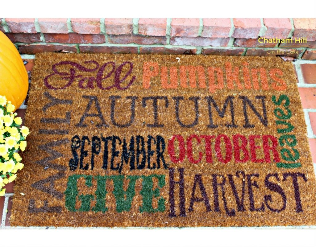 Fall Welcome Mat www.chathamhillonthelake.com