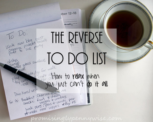The Reverse To Do List www.chathamhillonthelake.com