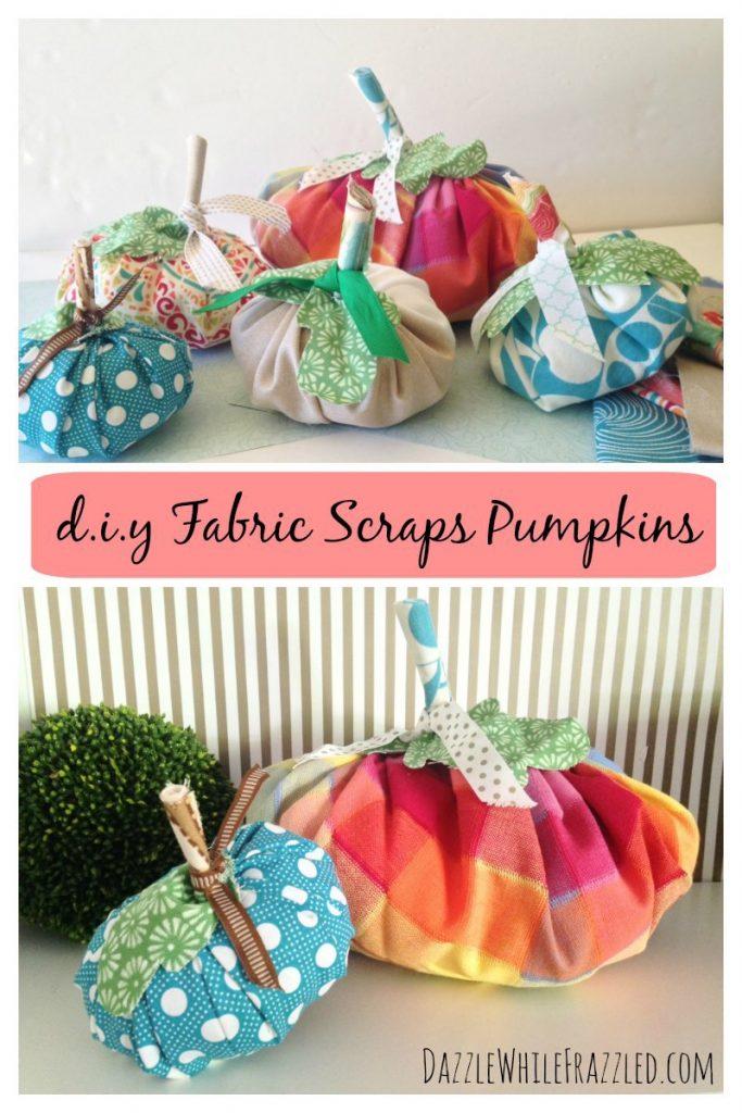 Fabric Scraps Pumpkins www.chathamhillonthelake.com