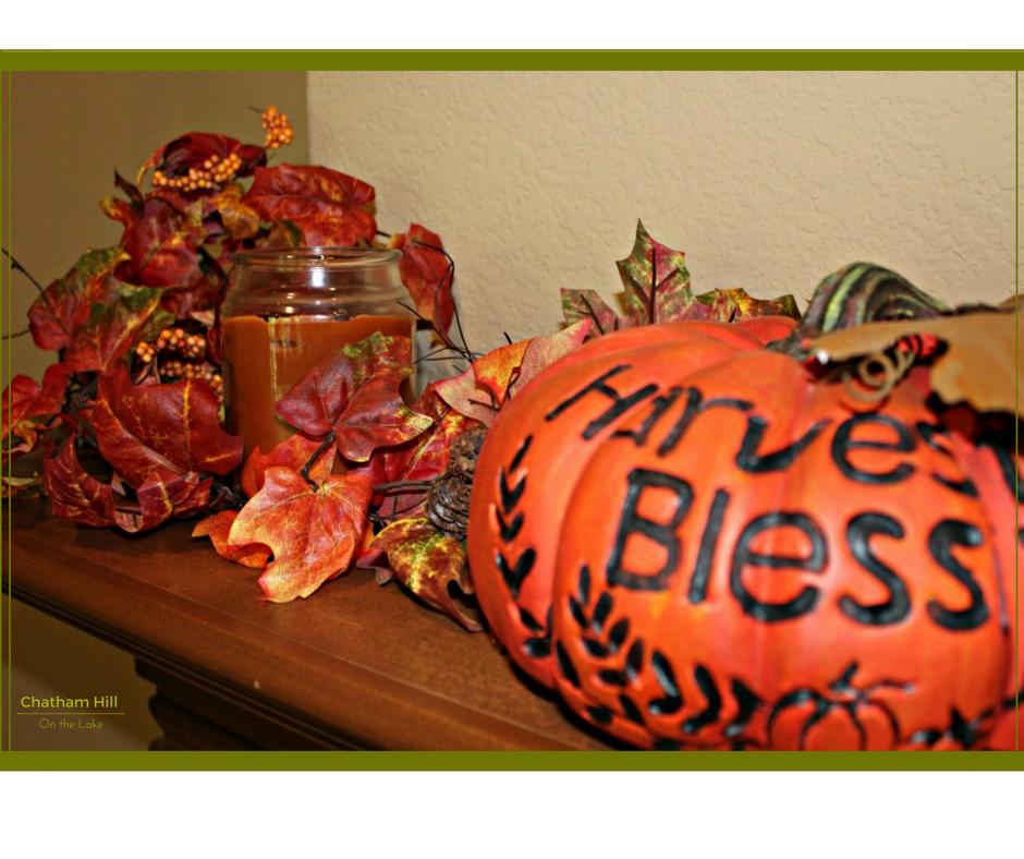 Harvest Blessings Mantle www.chathamhillonthelake.com