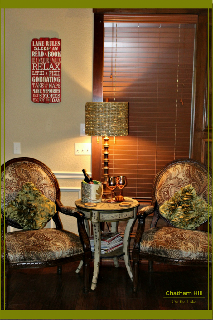 Fall Vignette for Guests www.chathamhillonthelake.com