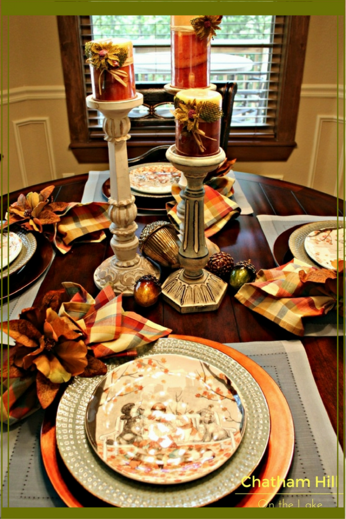 Unique and Fun Fall Table Setting www.chathamhillonthelake.com