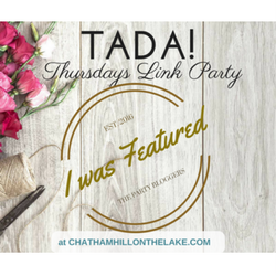 Featured on TADA Thursdays Link Party www.chathamhillonthelake.com