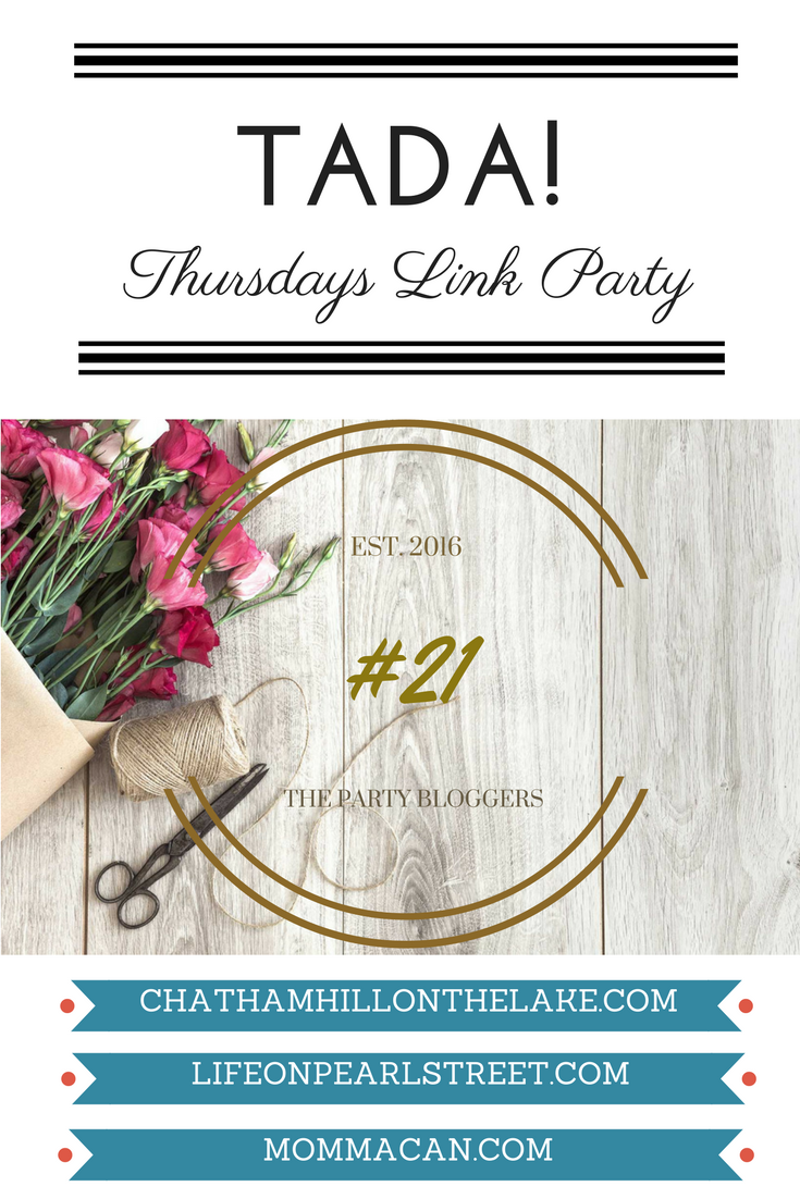TADA! Thursdays Link Party www.chathamhillonthelake.com