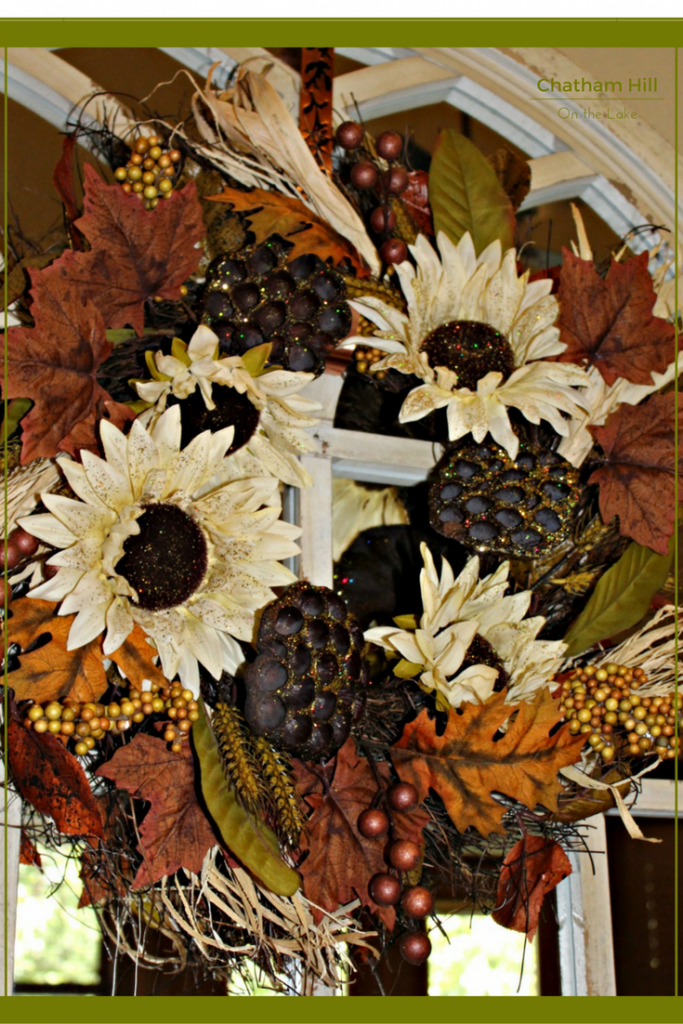 Close up Rustic Wreath www.chathamhillonthelake.com