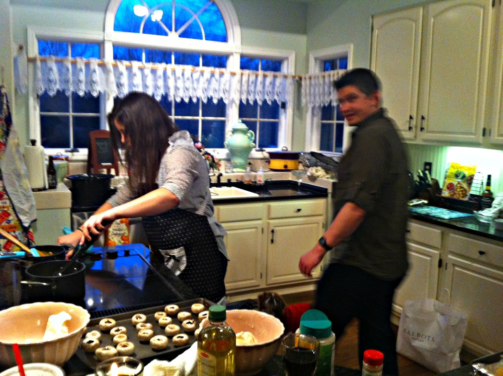 Family Cooking Together www.chathamhillonthelake.com