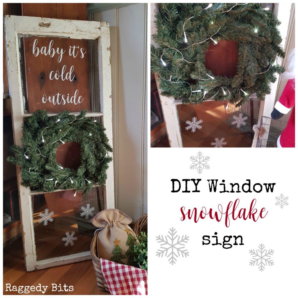 DIY Window Snowflake Sign