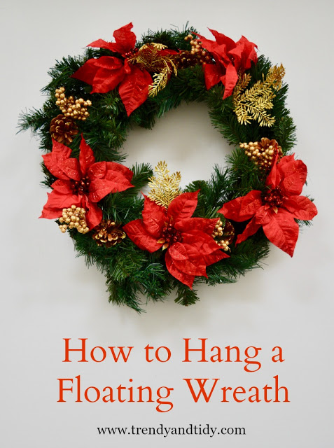 How to Hang a Floating Wreath