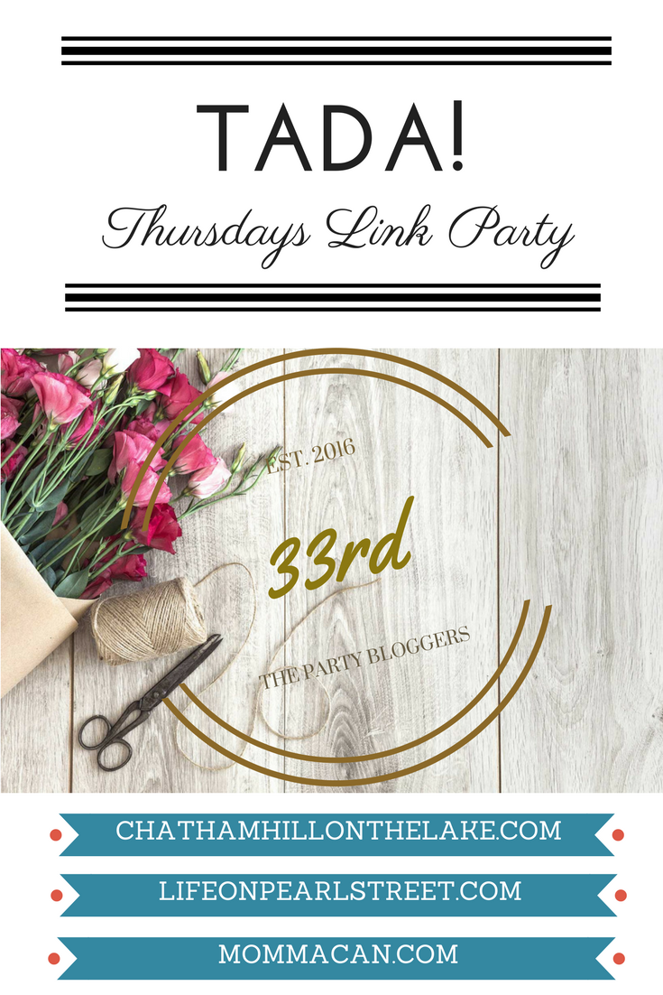 TADA! Thursdays Link Party at Chatham Hill on the Lake