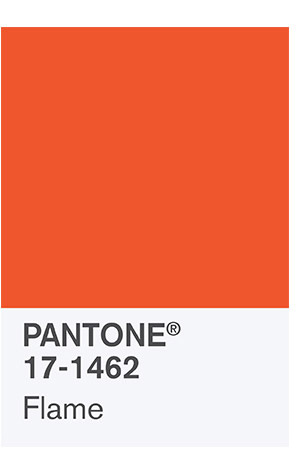 Flame pantone color palette member 2017 Spring