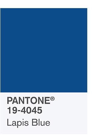 Lapis Blue Pantone color palette 2017
