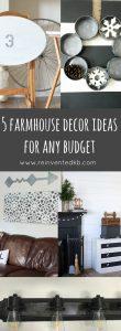 5 Farmhouse Decor Ideas