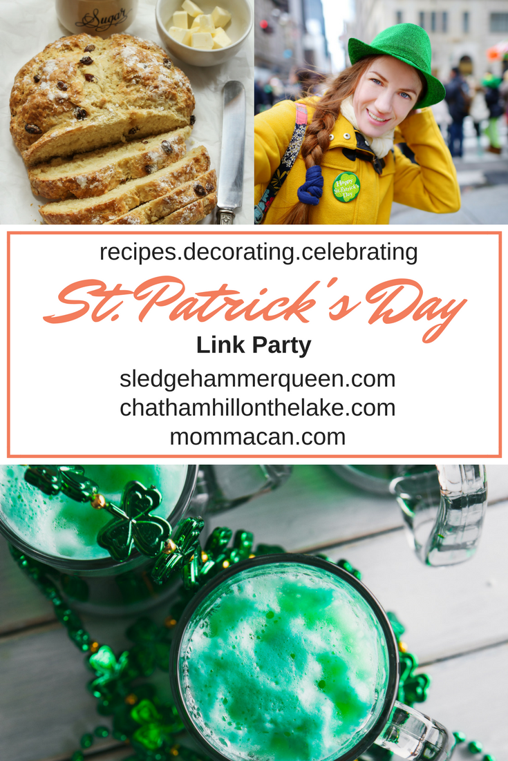 Get Your Green On St Patrick's Day Lucky Link party www.chathamhillonthelake.com