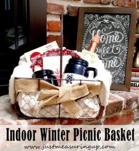 Indoor Winter Picnic Basket
