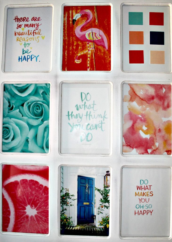 make a collage as a focus for your inspiration wall at https://www.YourHomeYourHappyPlace.com
