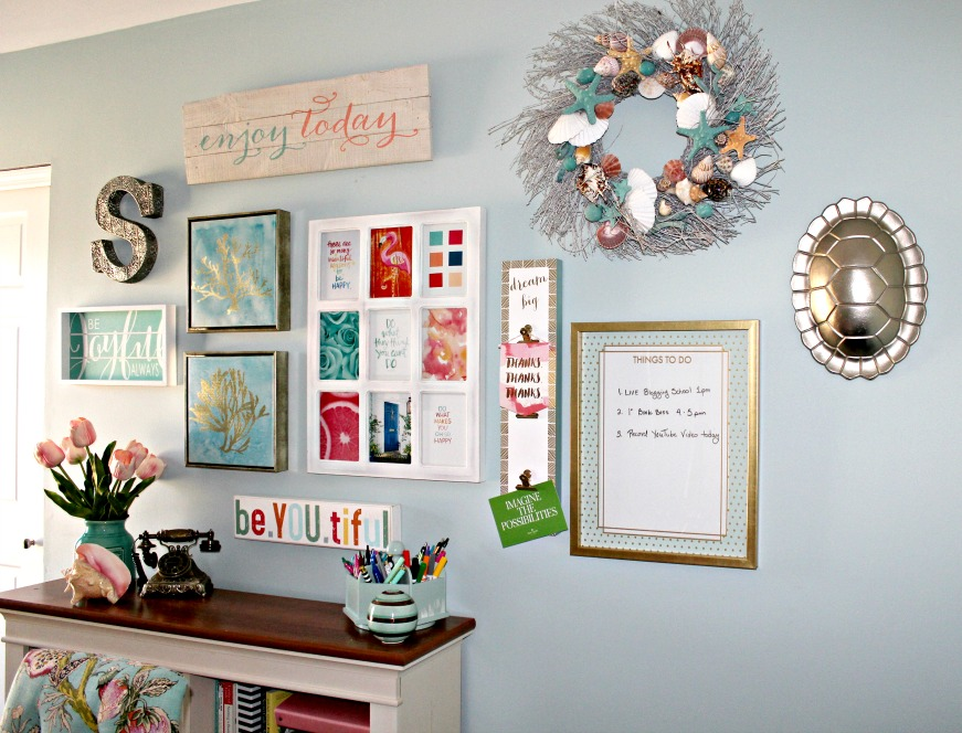 My Inspiration Wall and how you can make your own at https://www.YourHomeYourHappyPlace.com