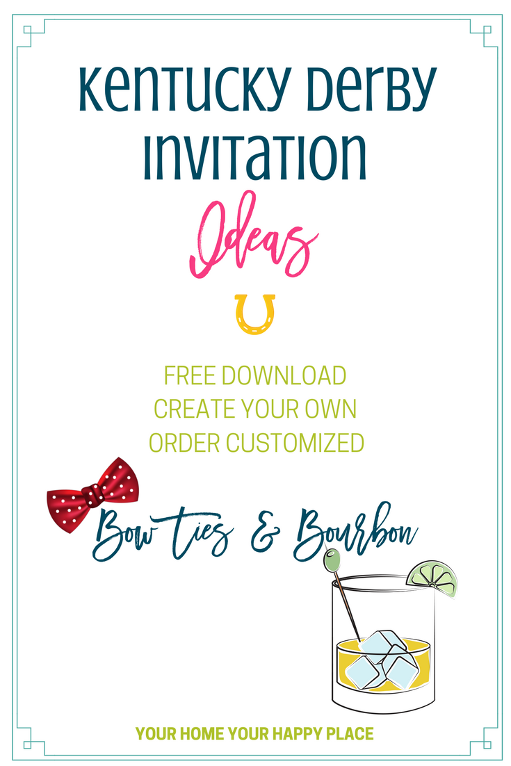Kentucky Derby Invitations you can make or order at yourhomeyourhappyplace.com