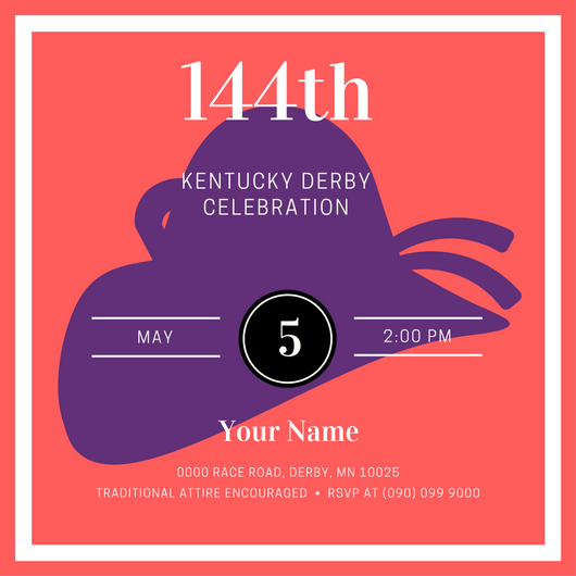 Get ready for the Kentucky Derby with a custom invitation created by Your Home Your Happy Place