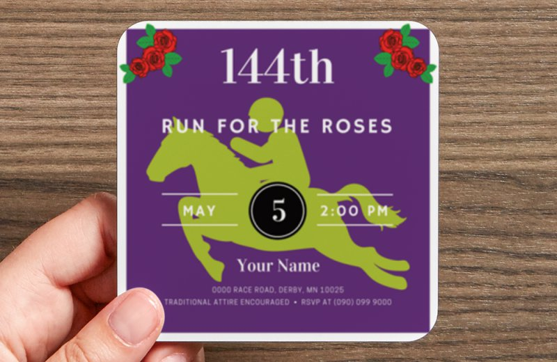 Custom Coaster for Kentucky Derby made for you at yourhomeyourhappyplace.com