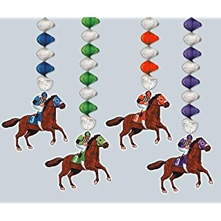 Dangle these Kentucky Derby Race Horses from the ceiling www.yourhomeyourhappyplace.com