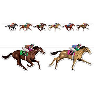 Kentucky Derby Banners for your Party Decor www.yourhomeyourhappyplace.com