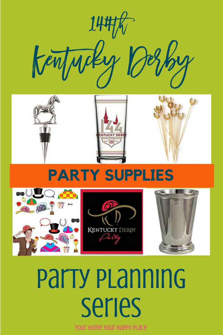 Kentucky Derby Party Supplies www.yourhomeyourhappyplace.com